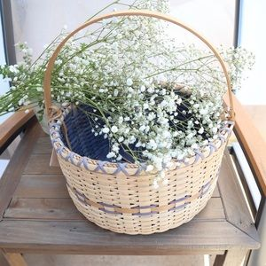 Mercantile wicker market basket